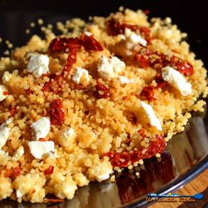 Mediterranean Couscous {Thinking warm thoughts of spring!