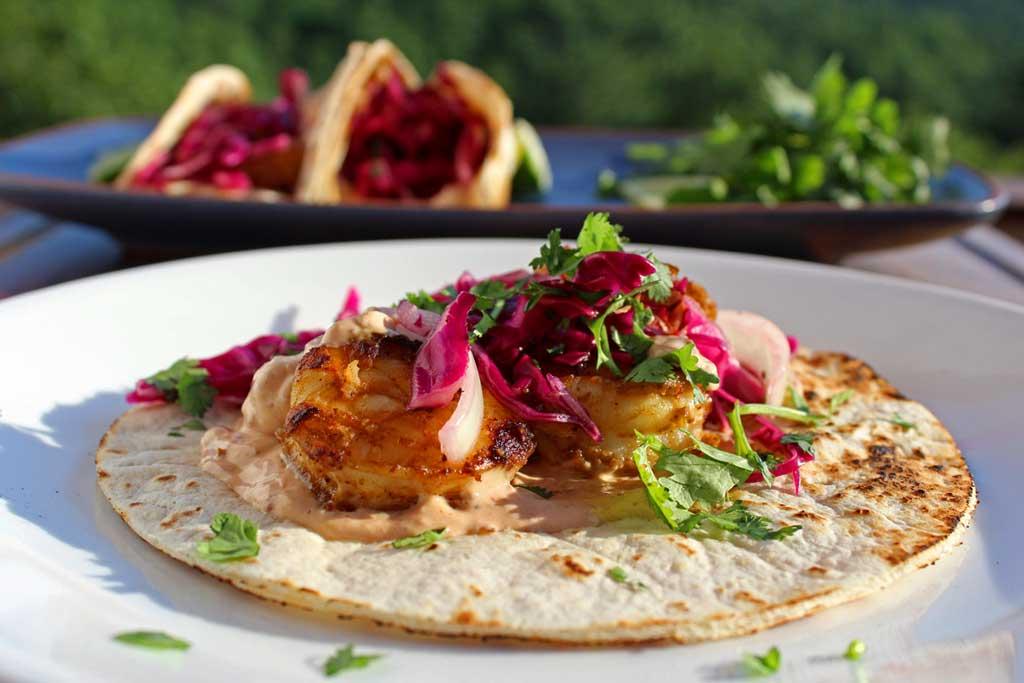 a taco on a plate