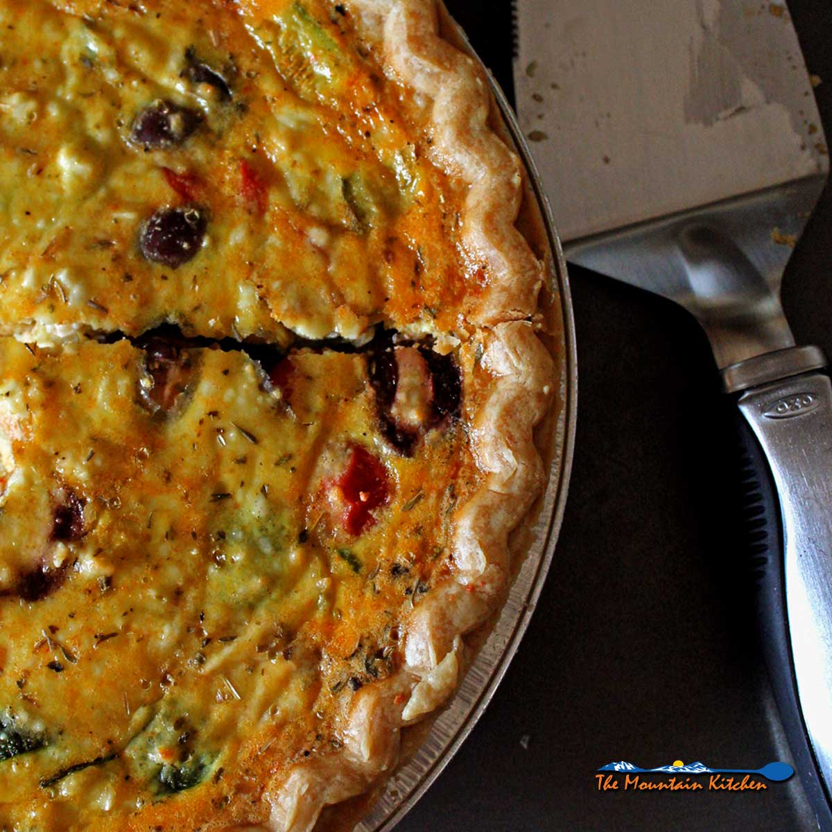 Vegetable Quiche {A Meatless Monday Recipe
