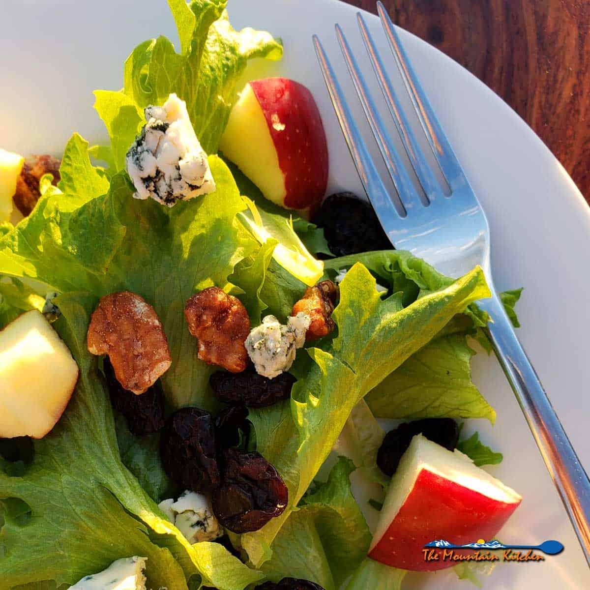 apple pecan blue cheese salad