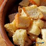 Making homemade croutons is really easy and the best way to use up leftover bread. Toss croutons in soups or salads or use them to top casseroles. So good!