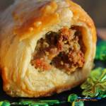Irish Sausage Rolls are made with Irish sausage rolled in a blanket of golden brown pastry dough. A fun and tasty recipe to celebrate St. Patrick's Day!