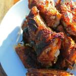 plated chicken wings