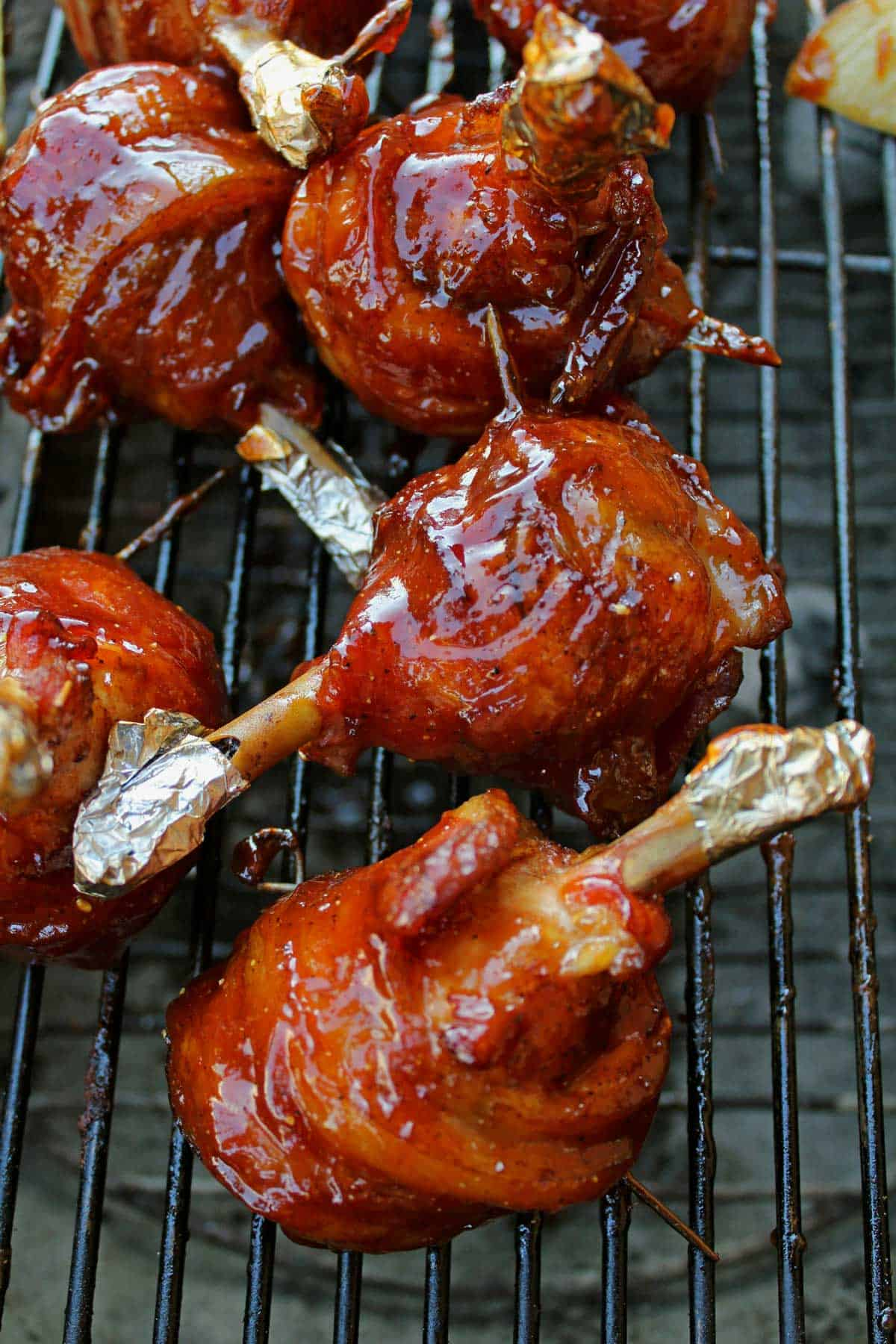 sauced chicken lollipops