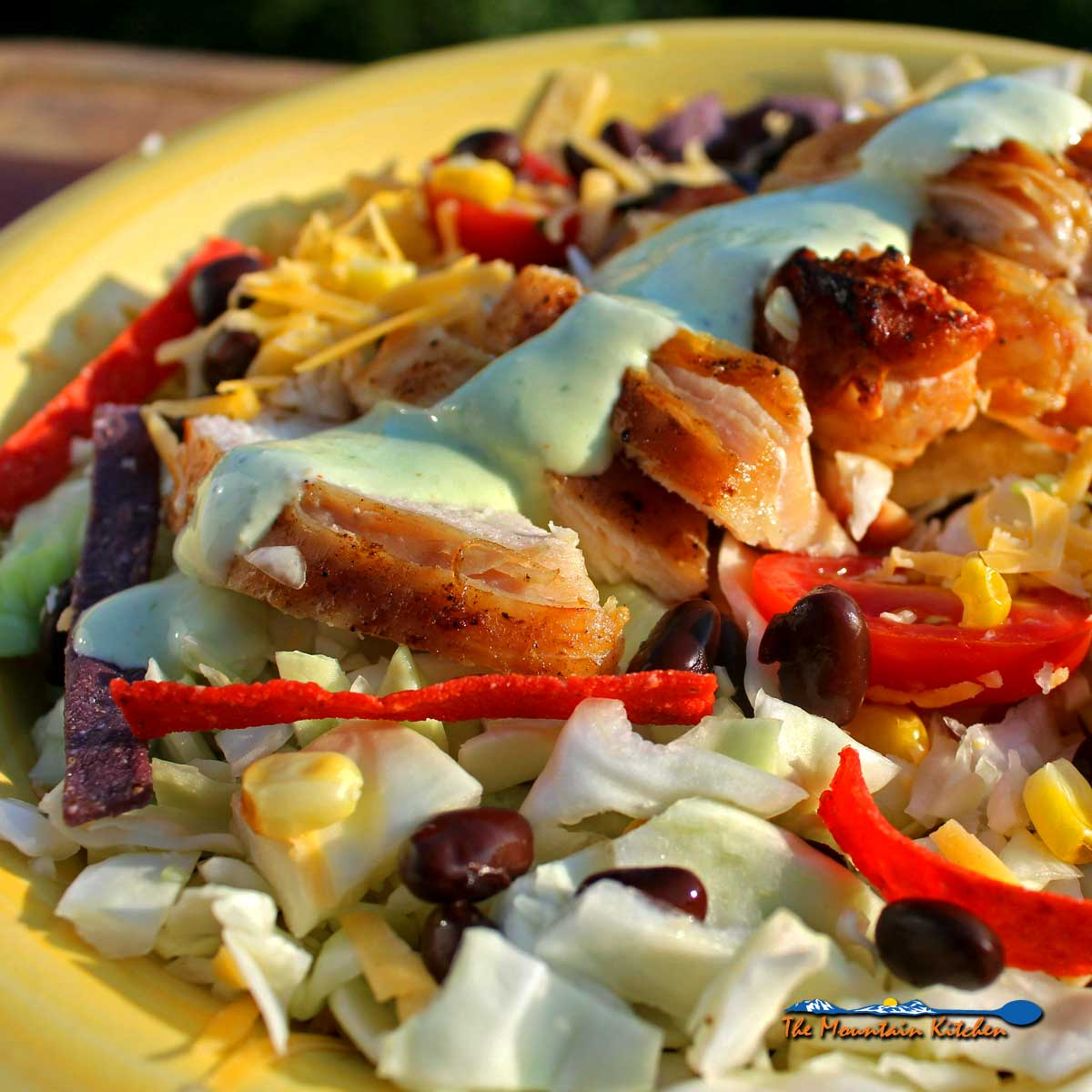 Santa Fe Salad With Cabbage and Jalapeño Ranch Dressing