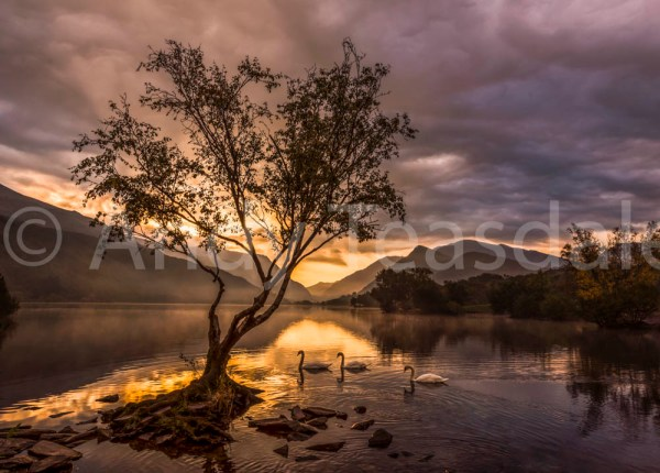 Sunrise over Llyn Padarn