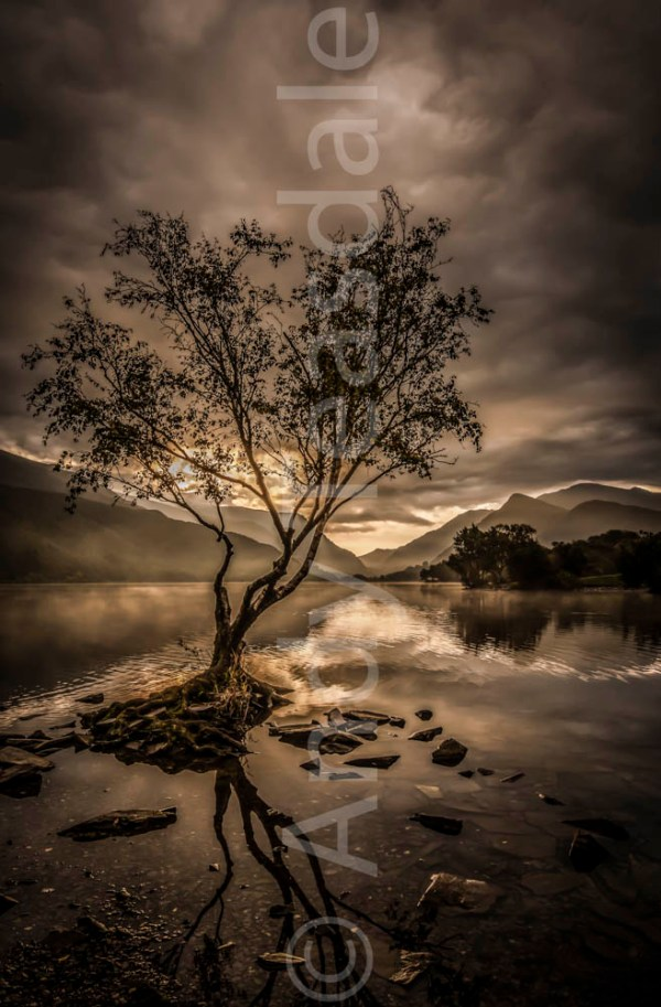 A moody morning at Llyn Padarn