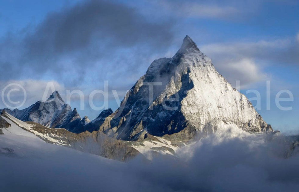 Morning light over the Matterhorn