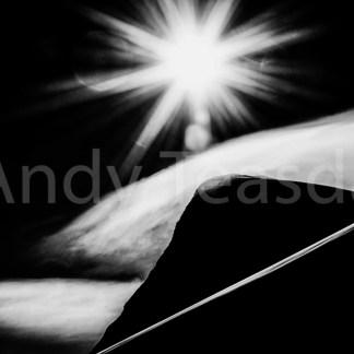 The Pigne d'Arolla in silhouette