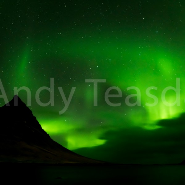 Aurora Borealis over Kirkjufell