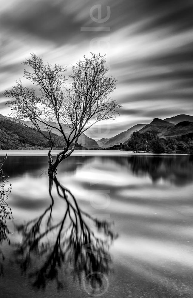 Llyn Padarn and drifting clouds