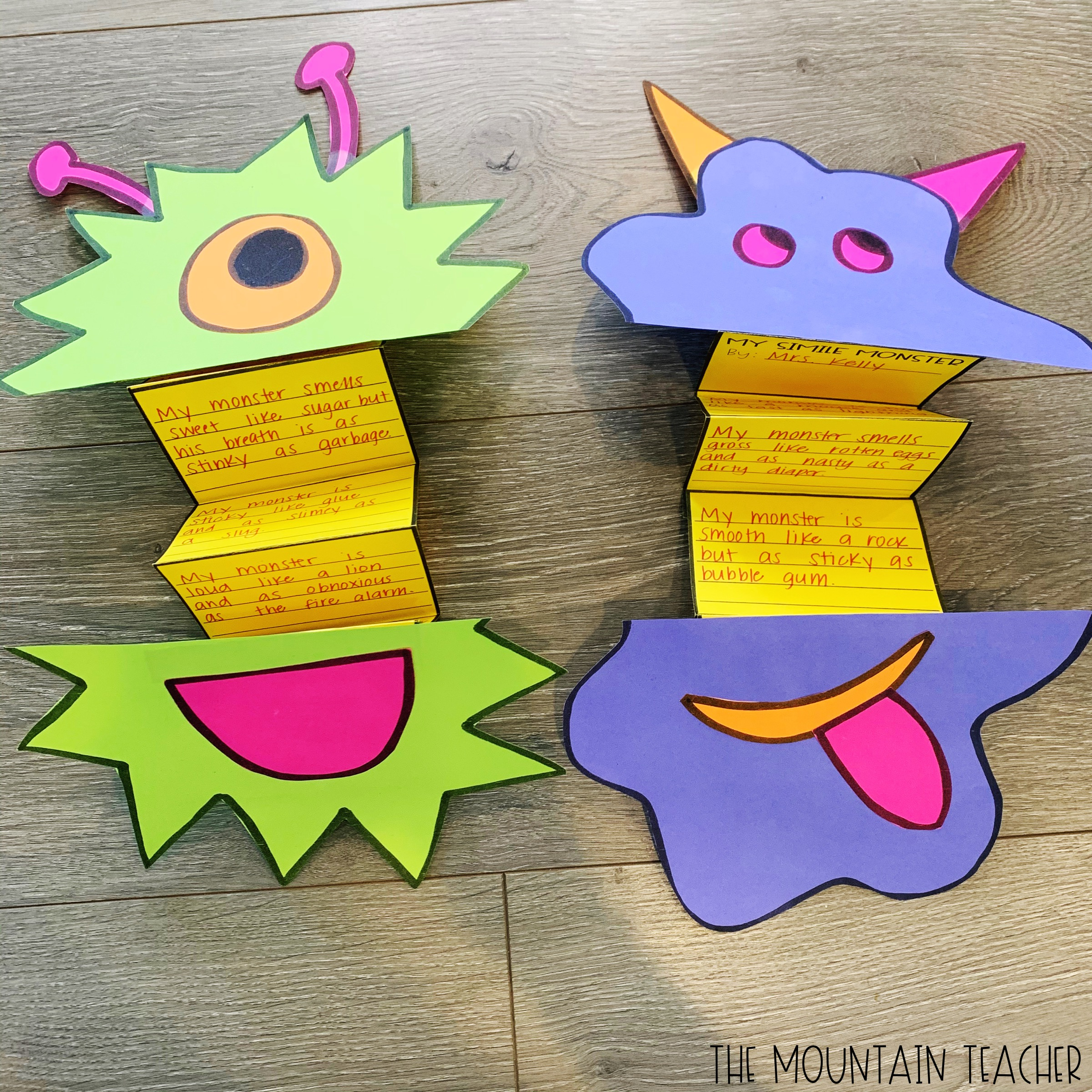 Simile Monster Simile Writing Project