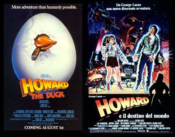 Howard The Duck Movie Poster ITALY HATES AME...