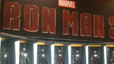 Iron Man display at Comic-Con