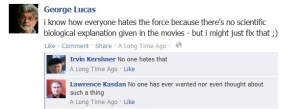 George Lucas on Facebook