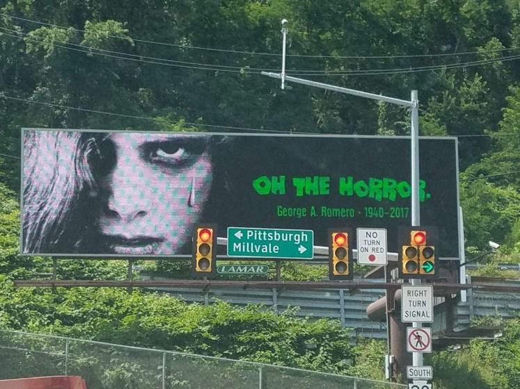 George Romero billboard