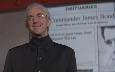 Jonathan Pryce plays a villainous newspaper owner in Tomorrow Never Dies