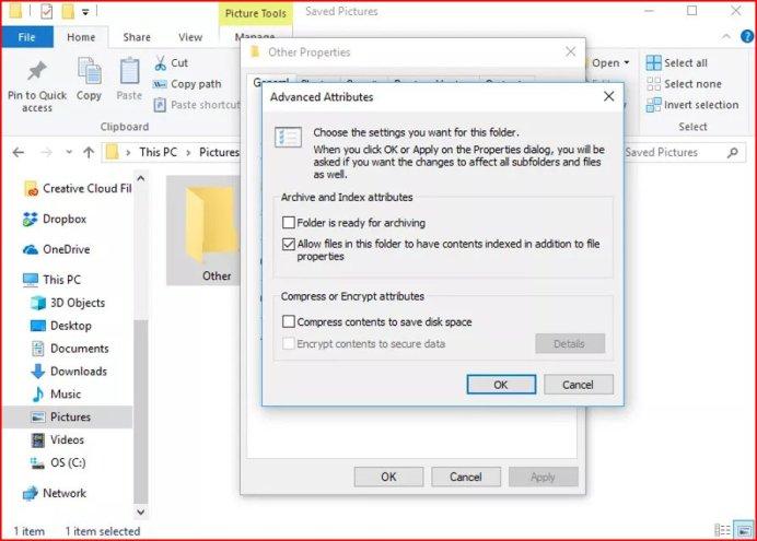 Encrypt folder in windows