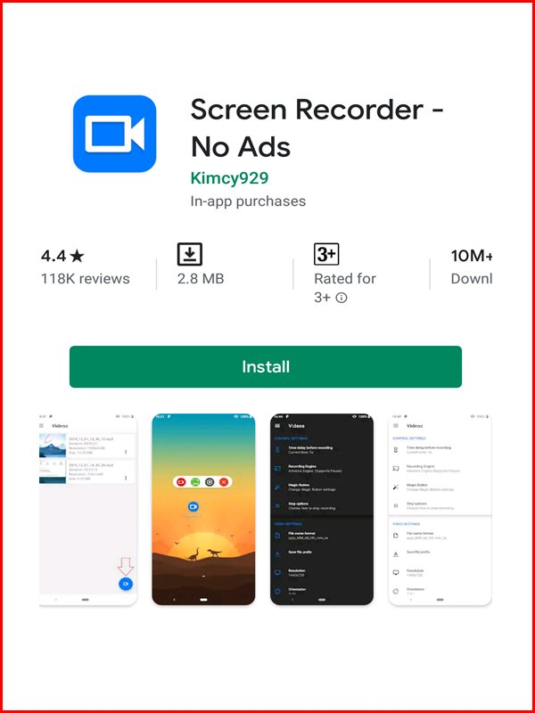 Kimcy android screen recording apps