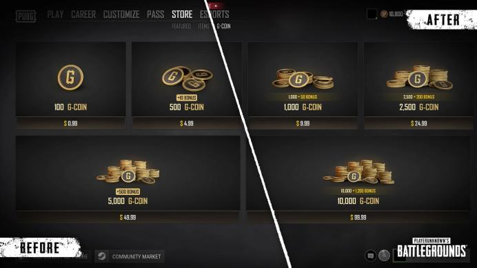 Pubg PC update 10.3 -G_Coin_Before_After-1