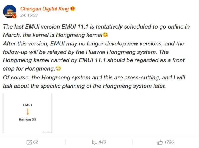 emui 11.1 harmony OS1