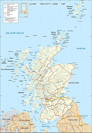 Map in English of Scotland This is a lighter r...