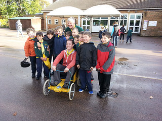 Clark Pack team for the District Cubs Push Car...
