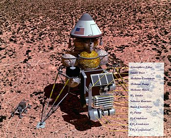 Artist concept of a Mars sample return mission