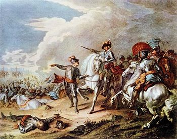 English: Battle of Naseby, by an unknown artis...
