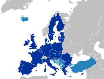 EU 27: Candidate countries Current members Imp...