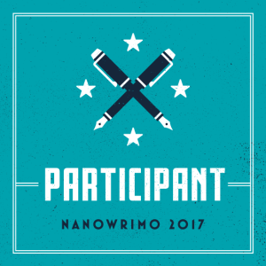 NaNoWriMo 2017 participant badge