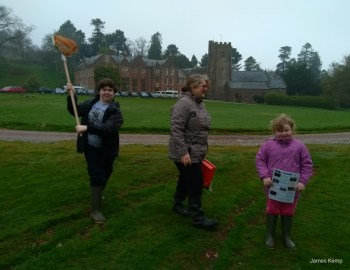 The Kemp family on the lawn at Nettlecombe Court (Photo: James Kemp)