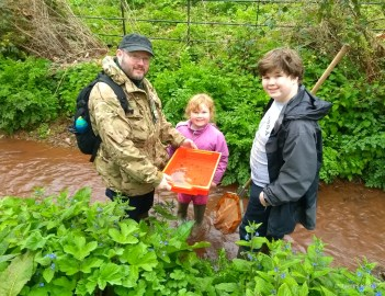 Finding life in the stream at Nettlecombe Court (Photo: Tracy Kemp)