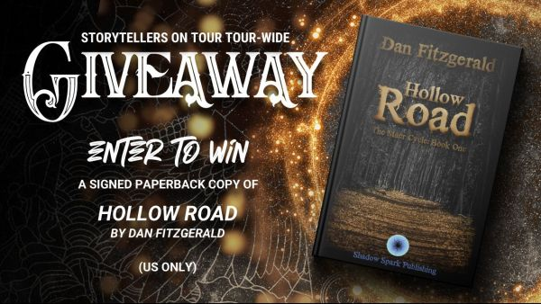 Giveaway banner for Hollow Road by Dan Fitzgerald