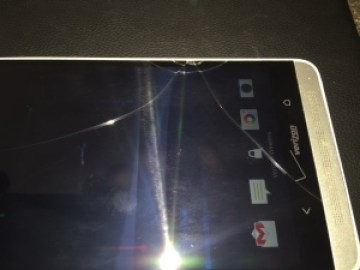 HTC-cracked screen