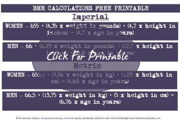 BMR printable