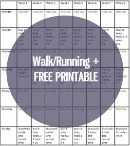walk/running free printable