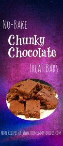 No Bake Chunky Chocolate Treat Bars - Easy to make and even easier to eat! Party favourite and great bribery food!