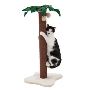 Simple (yet cute) example of a cat scratching post
