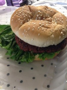 Vegan Burger - lunch day 1