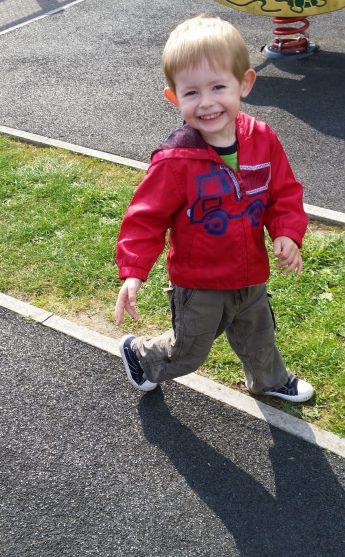 Having fun on the nursery run