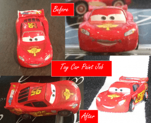 Before and After McQueen's Paint Job