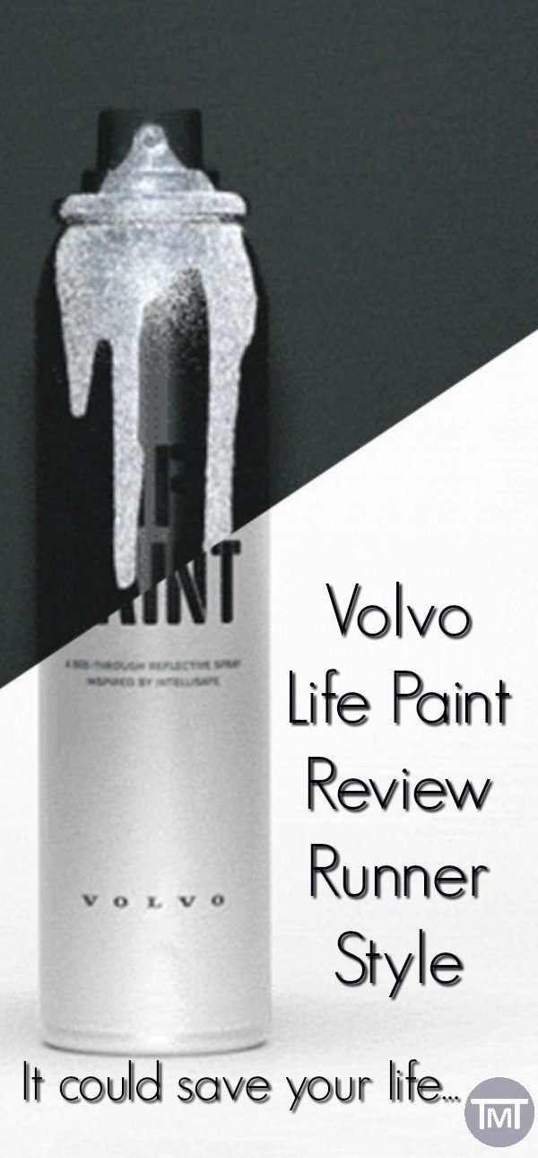 Volvo life paint review, what does it actually do and how it can help runners, dog walkers and kids be more reflective. #runchat #runners #run #running #fitfam #VolvoLifePaint