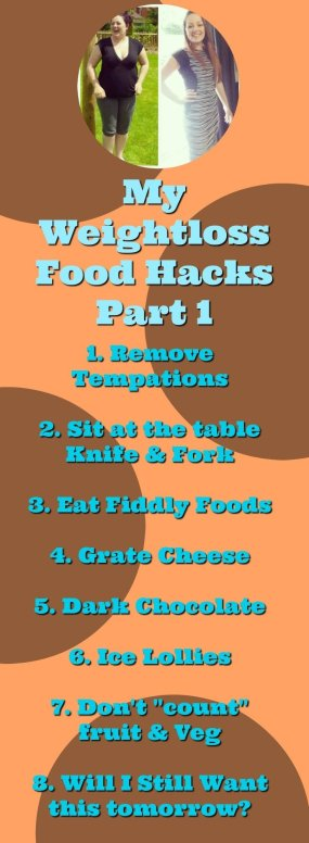 Weight loss food hacks that helped me to lose 5 stone - nothing major just some cool tricks and tips to getting a handle on food!