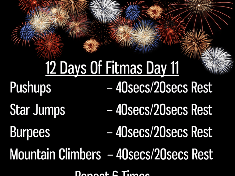 The 12 Days of Fitmas - Day 11