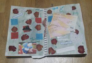 Dried Pressed Flower Background -Easy Scrapbook Background Ideas