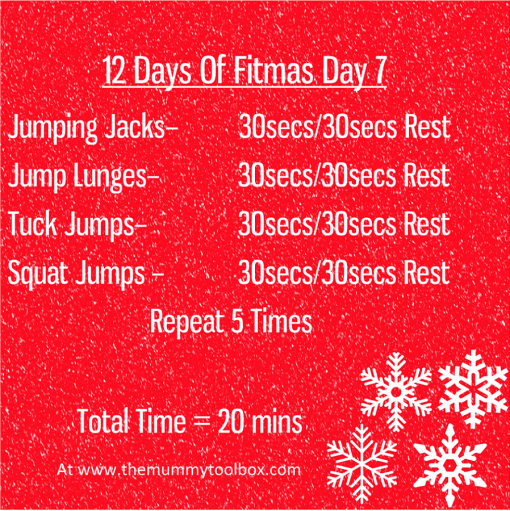 The 12 Days of Fitmas - Day 7 - repeat of above text workout for easy saving