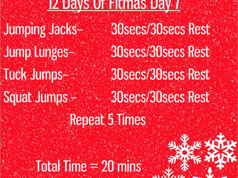 The 12 Days of Fitmas - Day 7 - pinnable Image