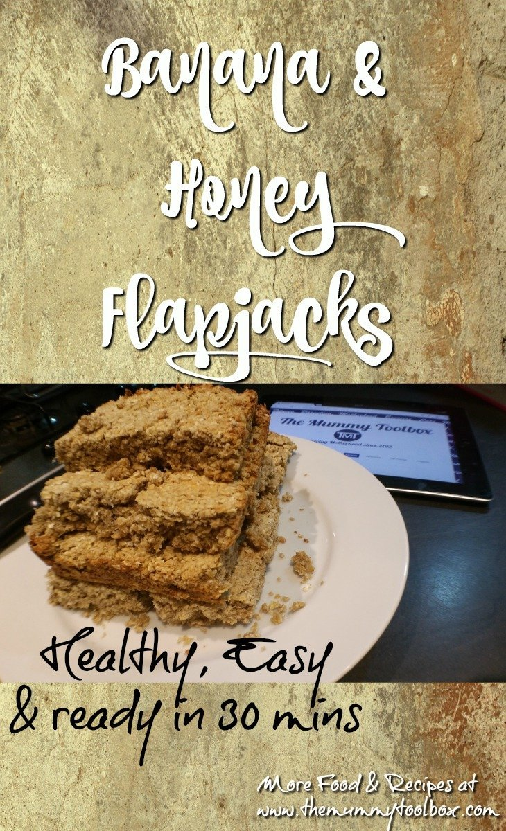 Healthy Banana & Honey Flapjacks