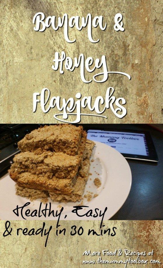 Banana & Honey Flapjacks - Healthy, tasty and ready in 30 minutes